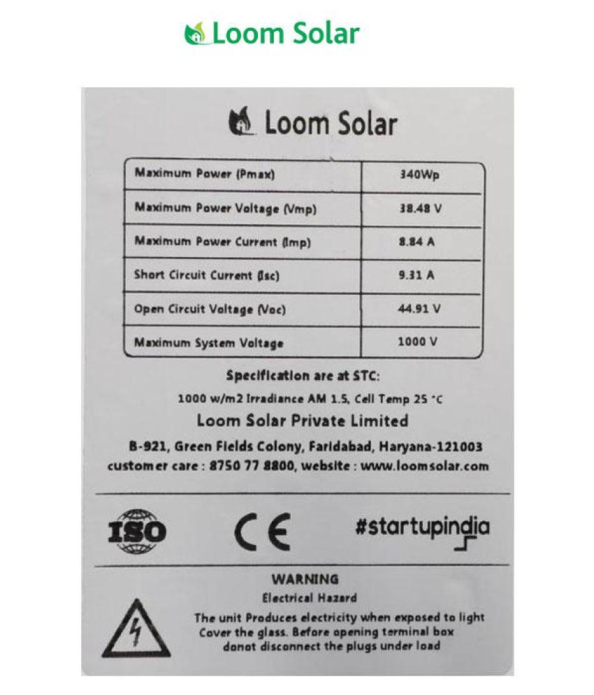 Loom Solar Loom 320 Watt 320 Polycrystalline Solar Panel
