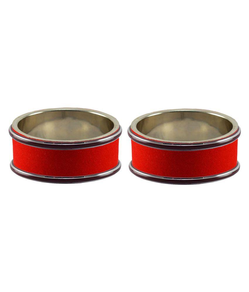 Red Plain Metal Bangle