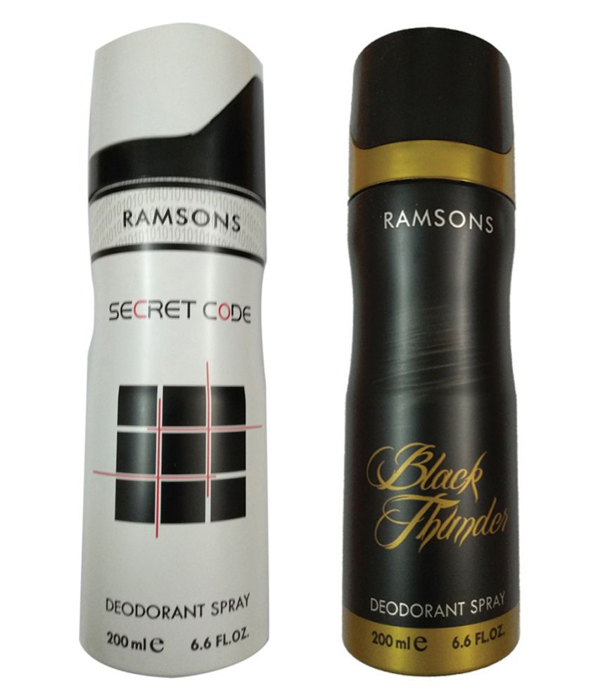 RANSONS BLACK THUNDER DEODORANT SPRAY 200ML +SECRET CODE DEODORANT SPRAY 200ML