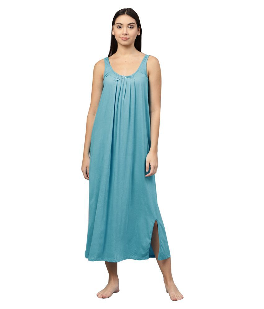 Ishin Hosiery Nighty & Night Gowns - Blue