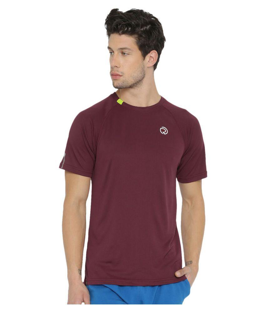 TRUEREVO Maroon Polyester T-Shirt