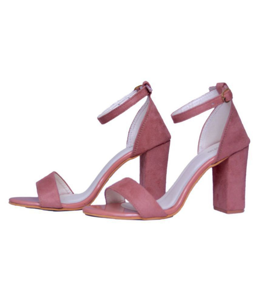 64a4af9dbf8 AnShe PeachPuff Block Heels Price in India- Buy AnShe PeachPuff Block Heels  Online at Snapdeal