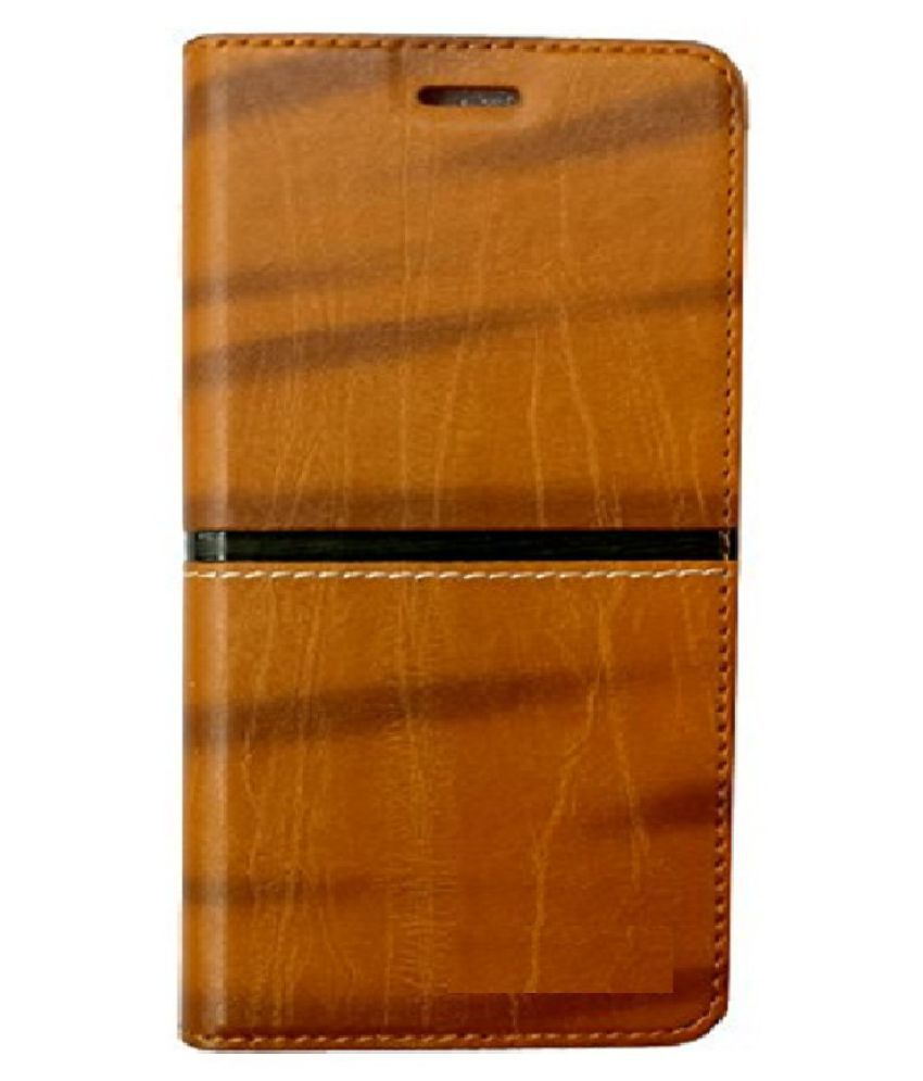 Oppo A83 Flip Cover by Shanice - Brown Rich Boss Flip Cover