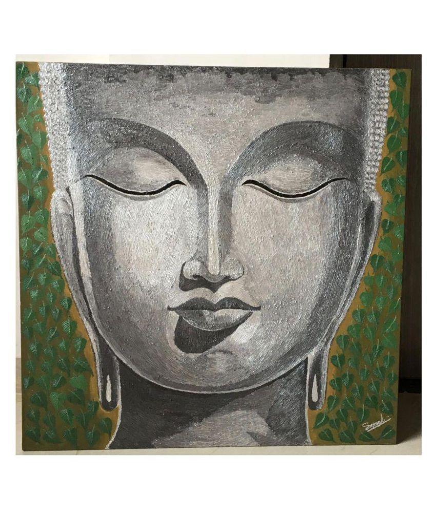 Wego Buddha Needle Texture Acrylic Painting WeGo Ary Gallery Canvas Painting Without Frame