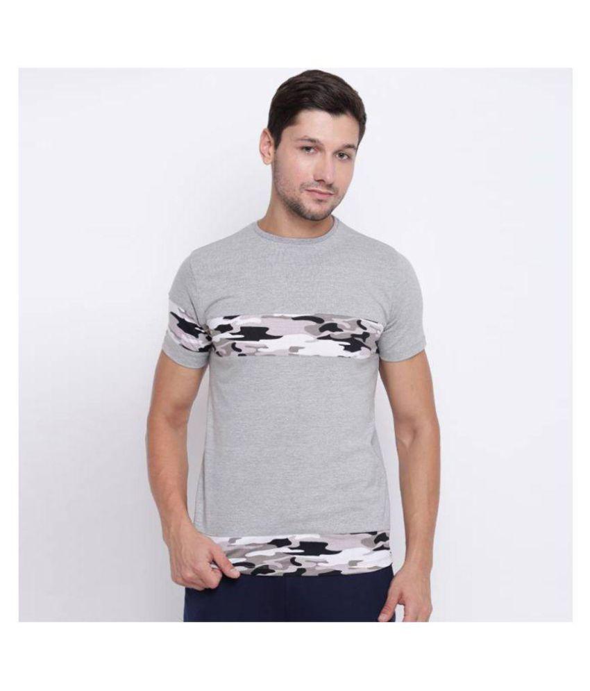 Koutons Grey Half Sleeve T-Shirt