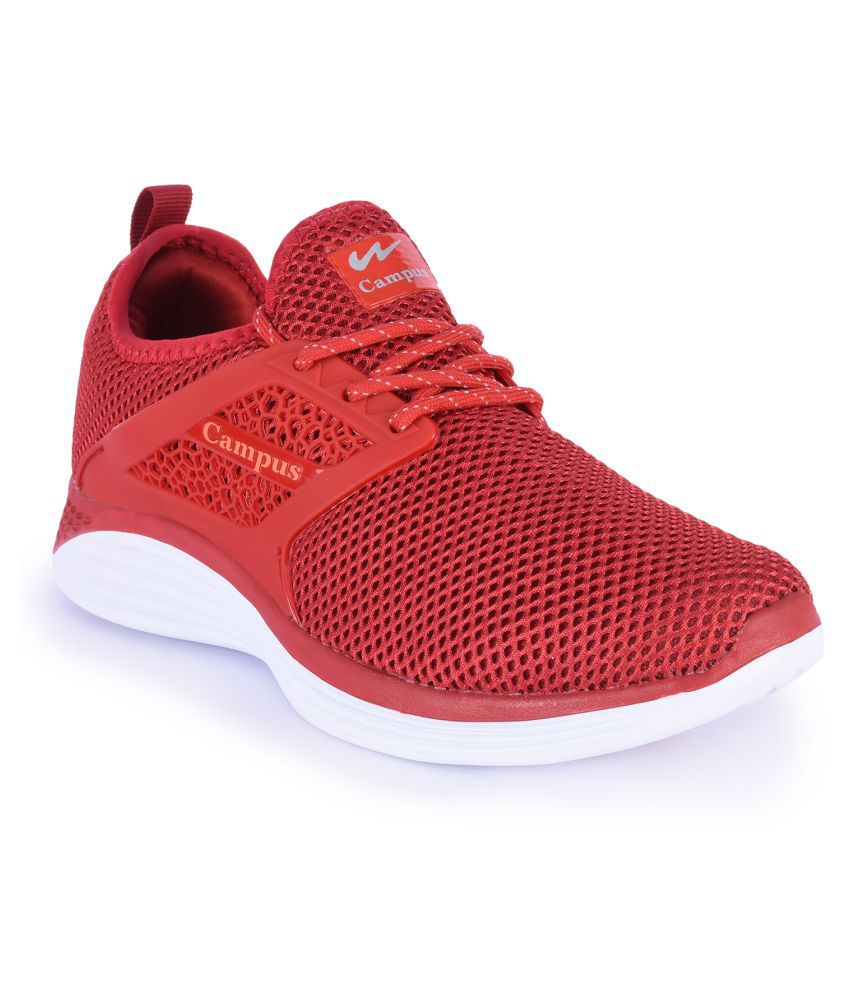 Campus Maroon Running Shoes