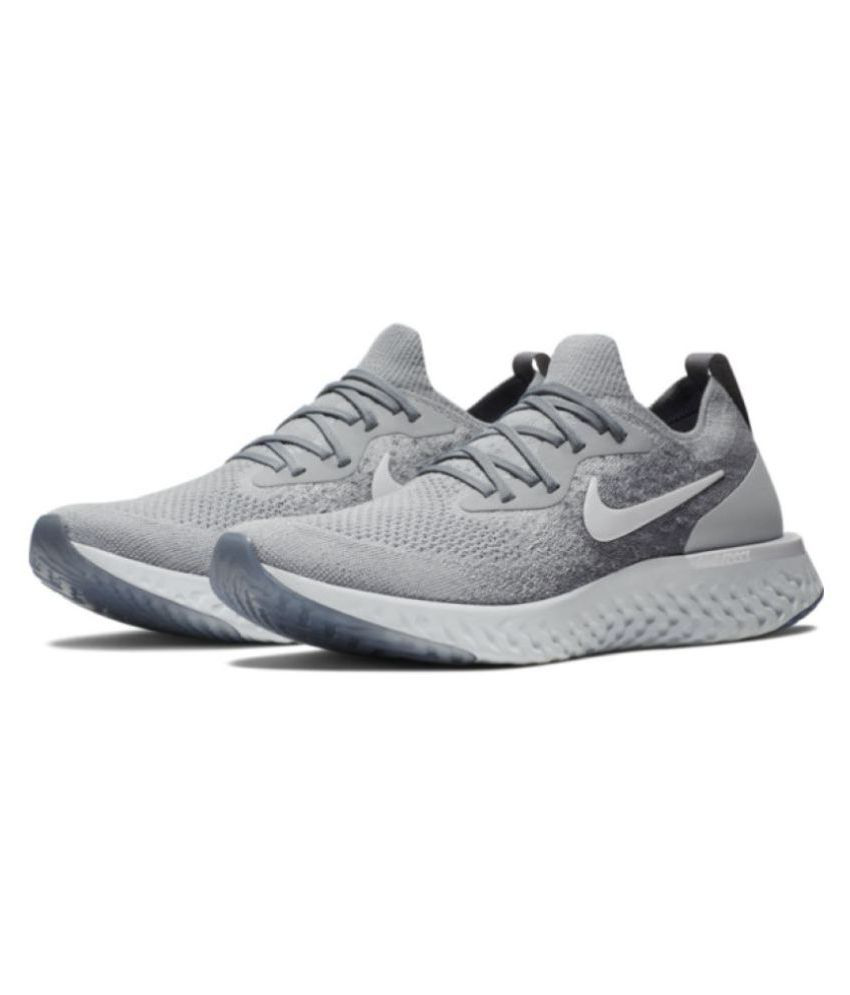 b26dd642f Nike Grey Running Shoes - Buy Nike Grey Running Shoes Online at Best Prices  in India on Snapdeal