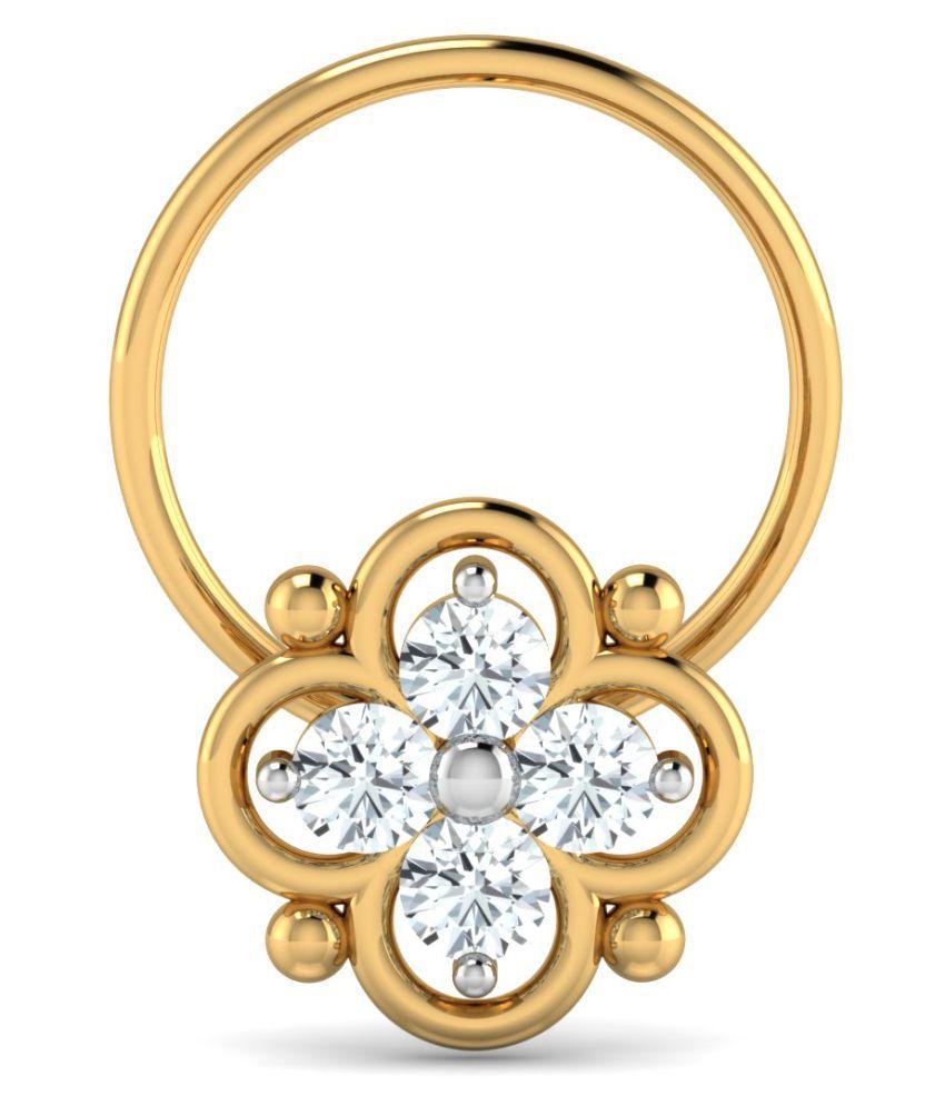 Costozon 18k Yellow Gold Nose Ring Buy Costozon 18k Yellow Gold Nose Ring Online In India On Snapdeal
