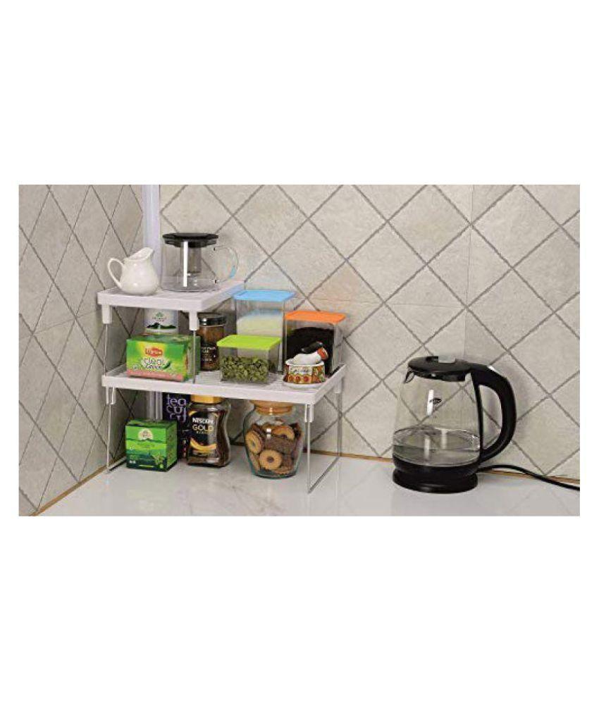multipurpose kitchen folding organiser combo big small rack rh snapdeal com