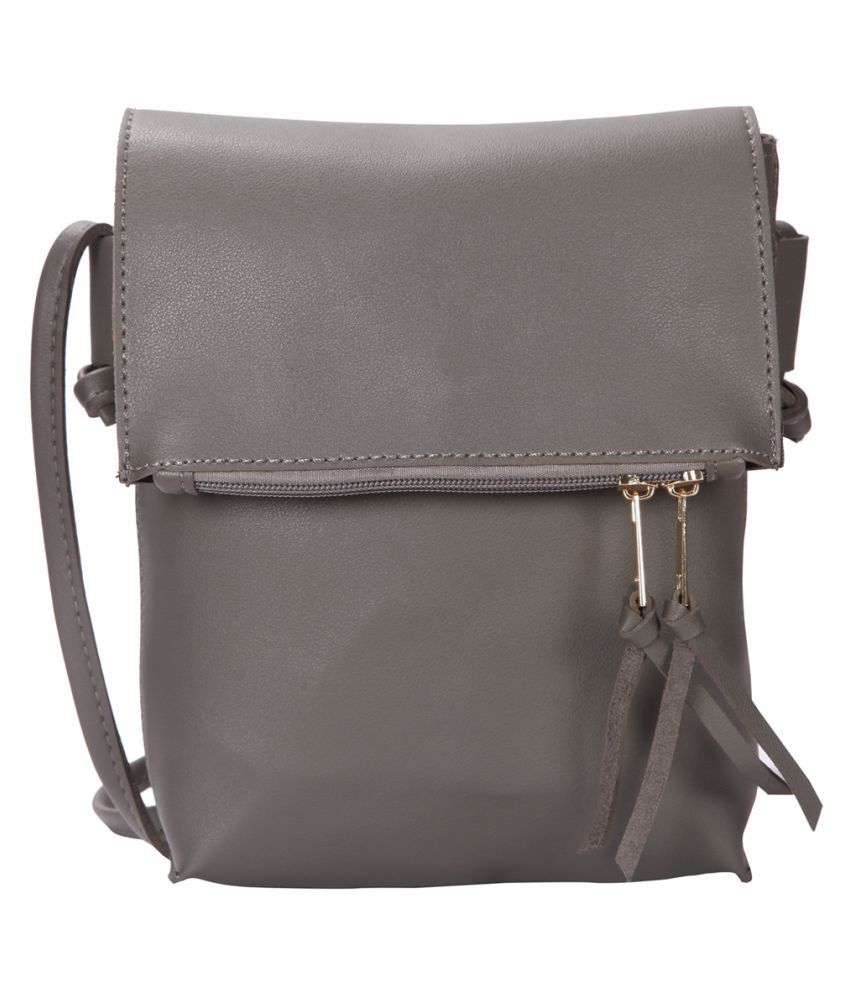 Bagkok Gray P.U. Sling Bag