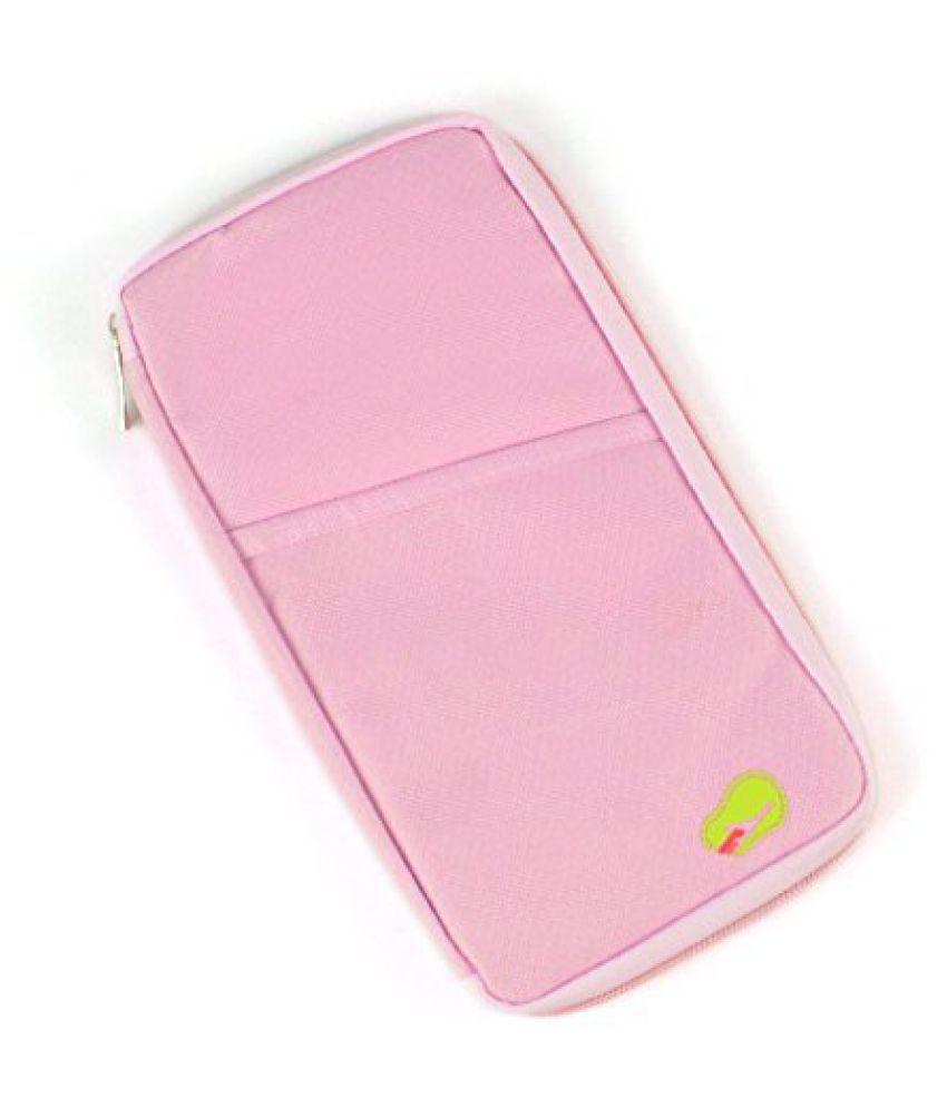 4e12848f8 ... Everbuy Long Travel Passport Holder Wallet Case Pouch Nylon Pink  Passport Holder