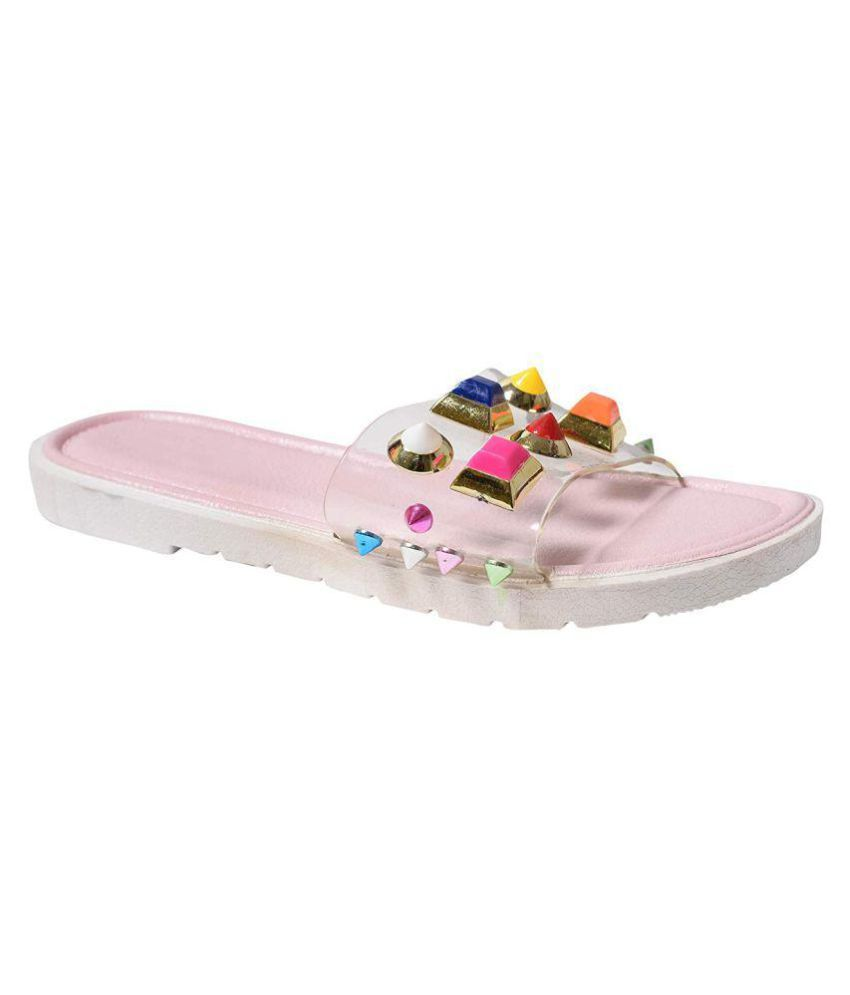 c115c1bbef6 Shoe Lab Pink Slippers Price in India- Buy Shoe Lab Pink Slippers Online at  Snapdeal