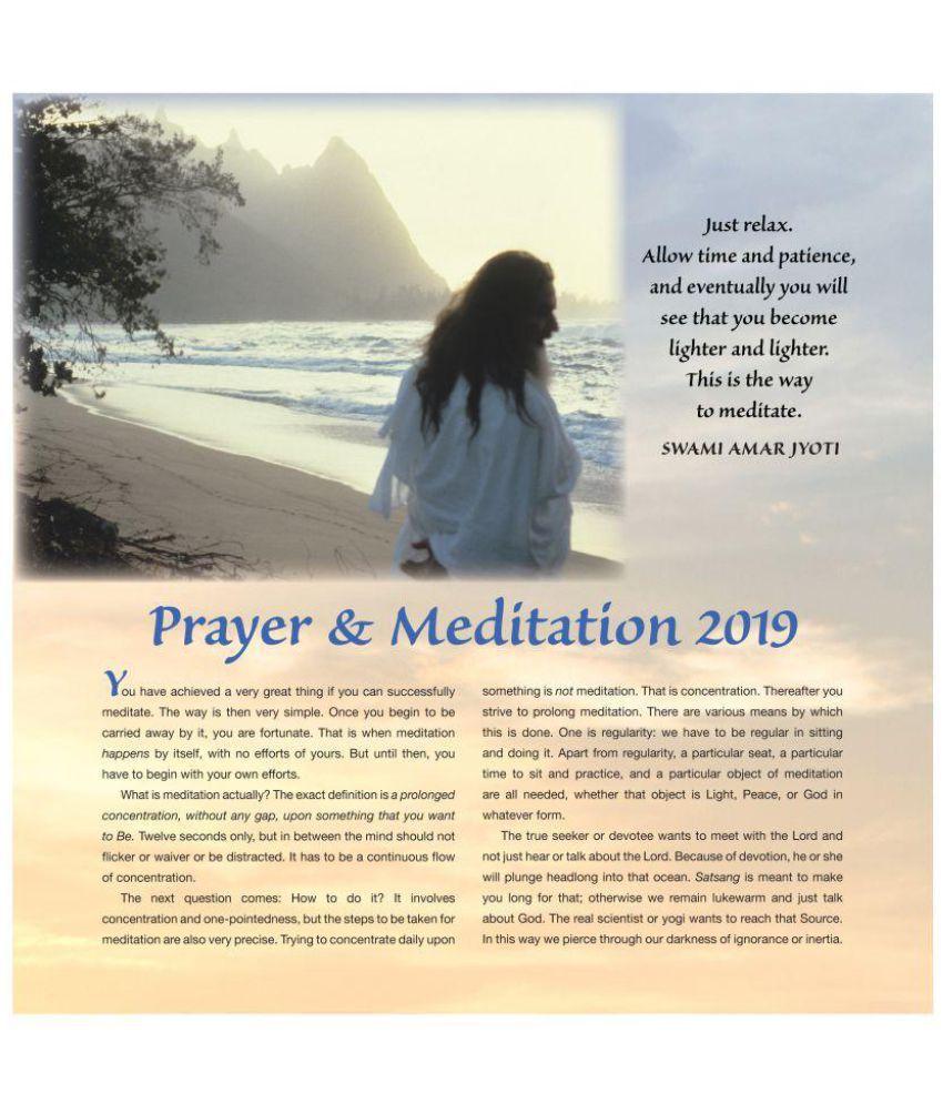 JL Collections Prayer & Meditation Wall Calendar 2019