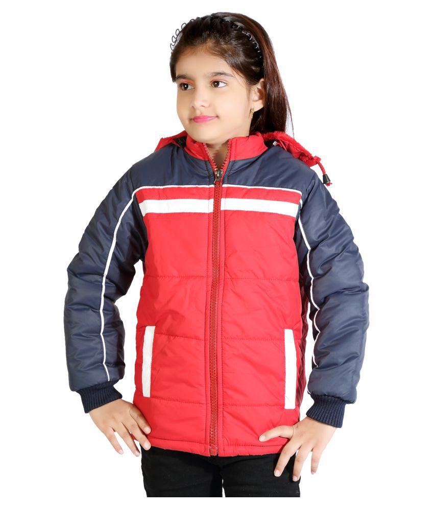 AD & AV GIRLS CASUAL SOLID QUILTED JACKET