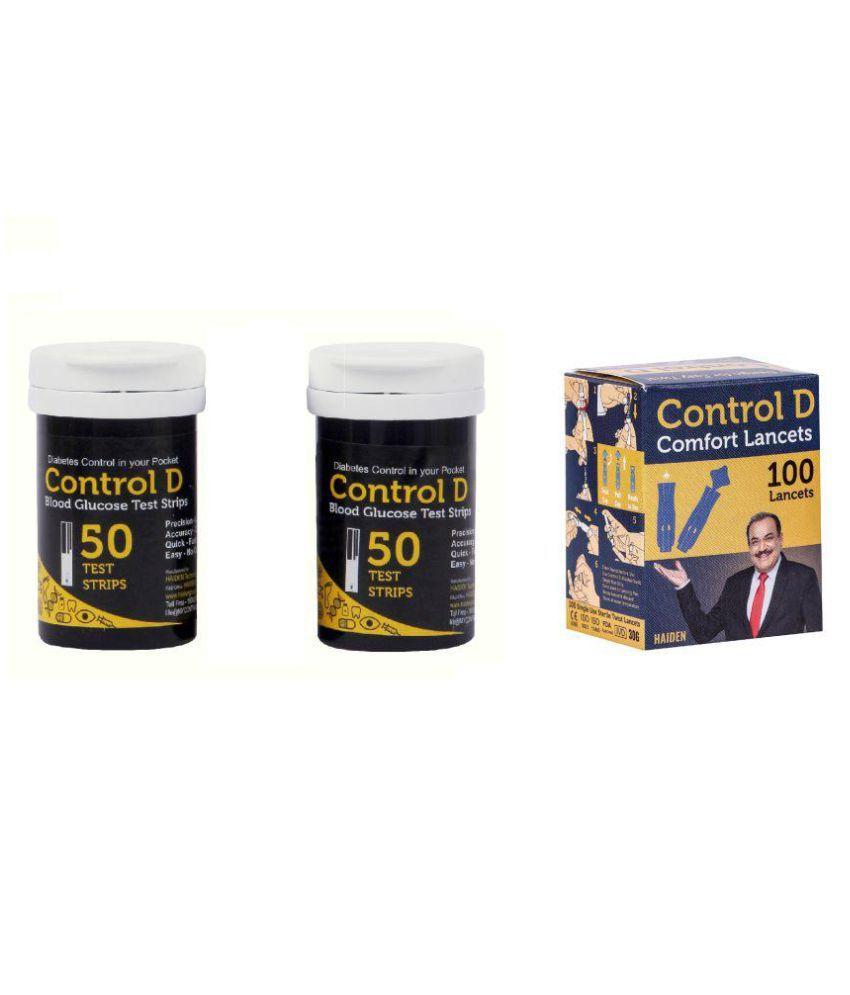 Control D 100 Test Strips & Lancets Below 100
