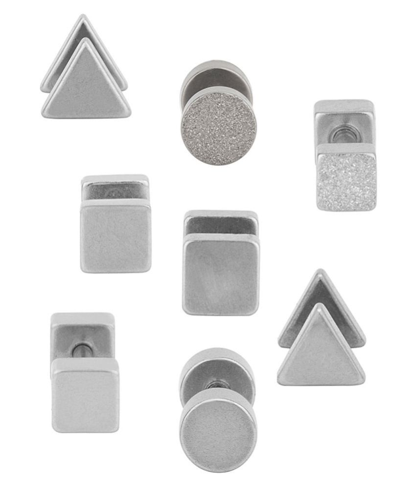 Dare Silver Stainless Steel Studs