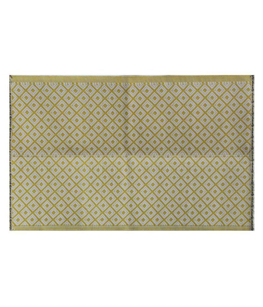 karanjamats Off White Single Regular Floor Mat