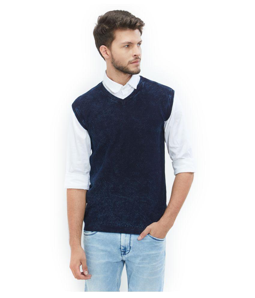EASIES by KILLER Blue V Neck Sweater