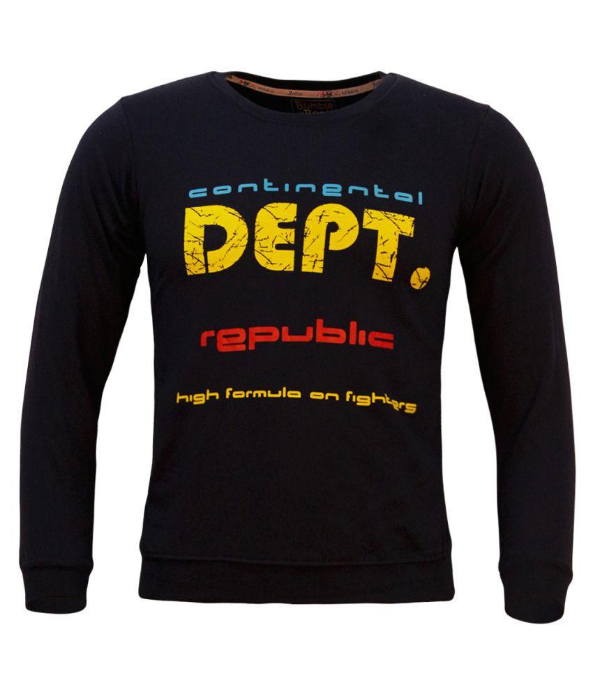 Kothari Boys Full Sleeves Printed  Navy Color Fleece Regular Fit Boys Sweatshirt