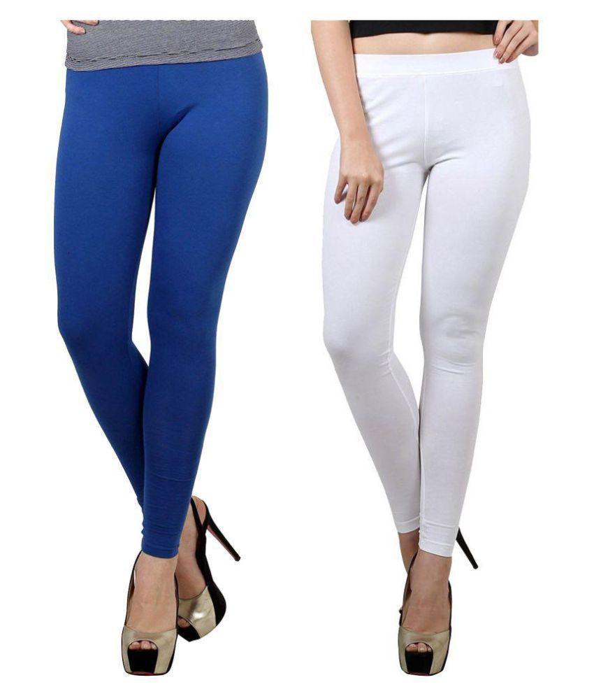 fashion biz Cotton Lycra Pack of 2 Leggings