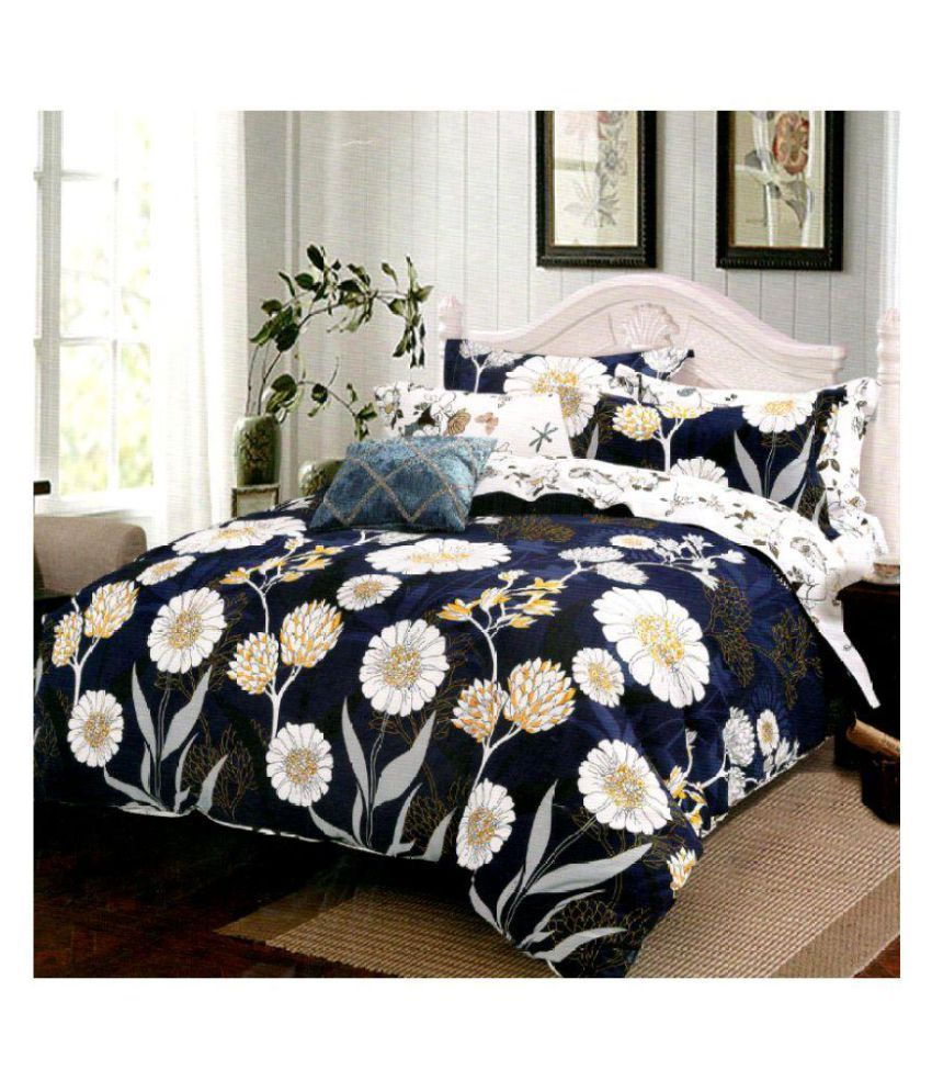 YMV KAPREWALA Cotton Double Bedsheet with 2 Pillow Covers