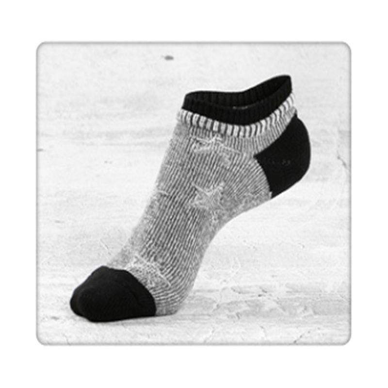 Valenino Gray Sports Low Cut Socks