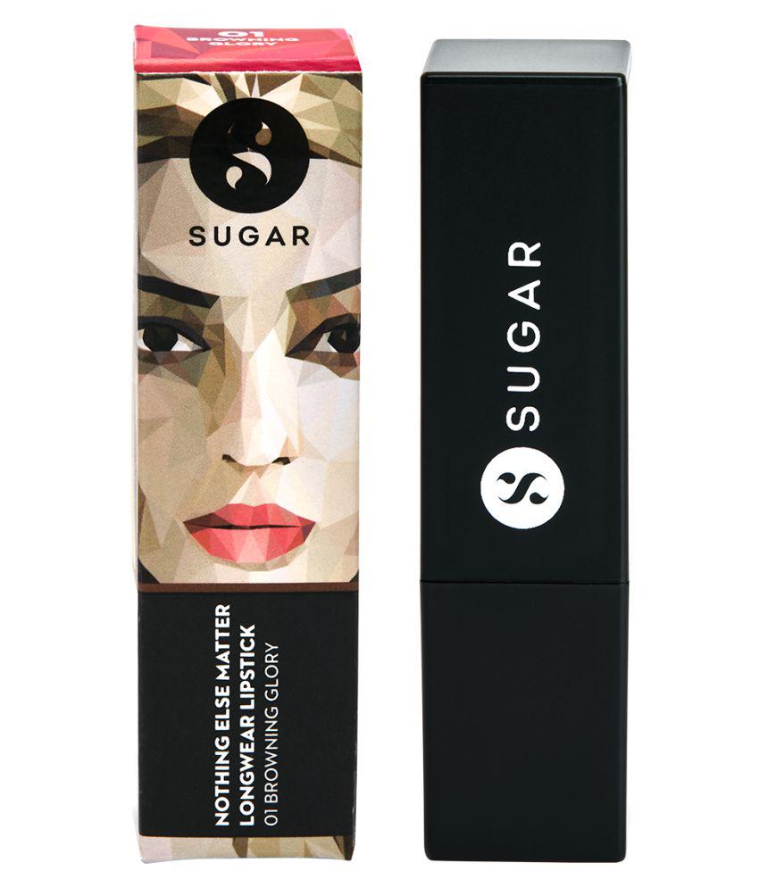 Sugar Cosmetics Nothing Else Matter Longwear Lipstick 01 Browning Glory (Caramel Nude) 3.5 gm