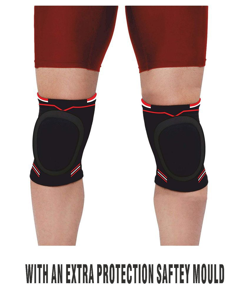 Just Rider Padded Knee Cap for Dancing/Skating/Volley Ball/Wrestling/Yoga etc (1 Pair)