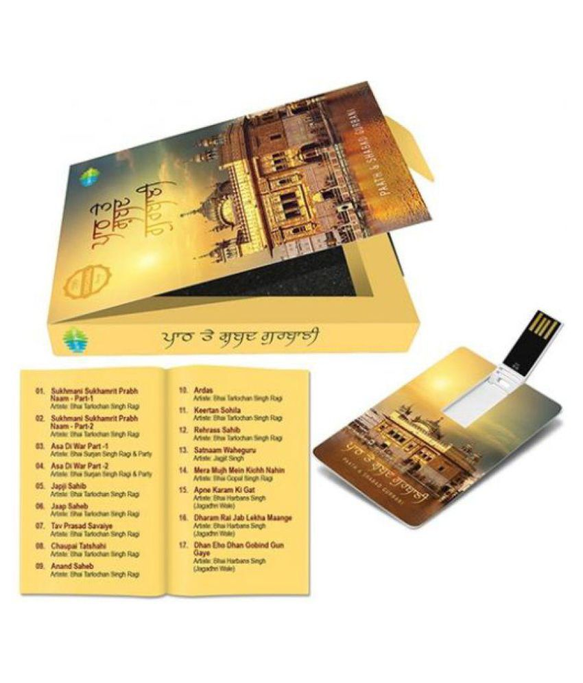 Saregama Carvaan Shabad Gurbani music card 4 gb 4GB USB 2 0 Utility  Pendrive Pack of 1