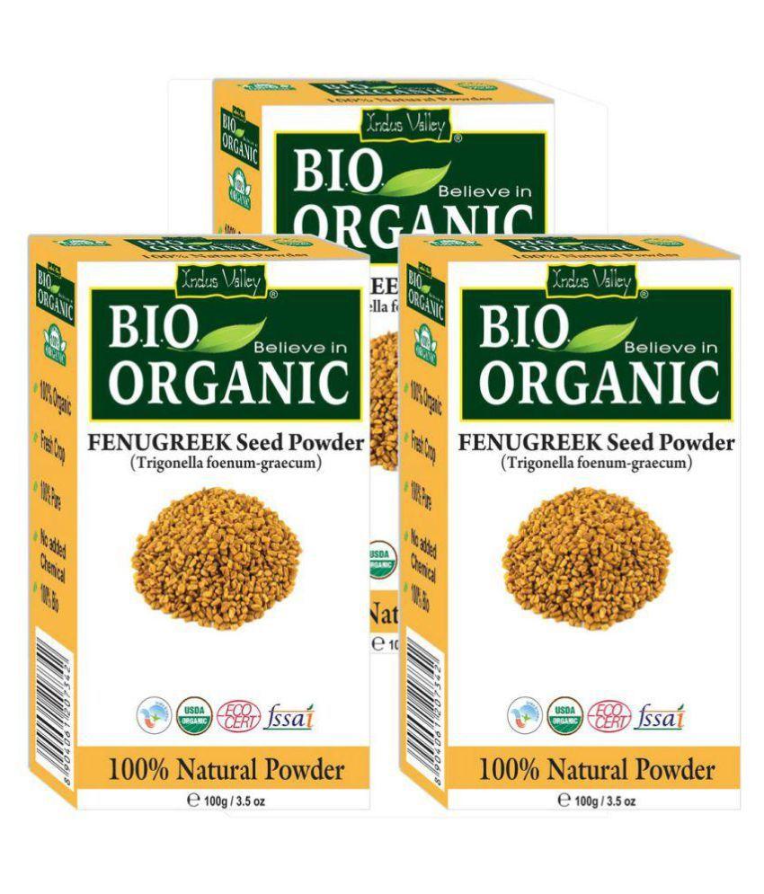 Indus Valley BIO Organic Pure Fenugreek Powder - Triple Pack