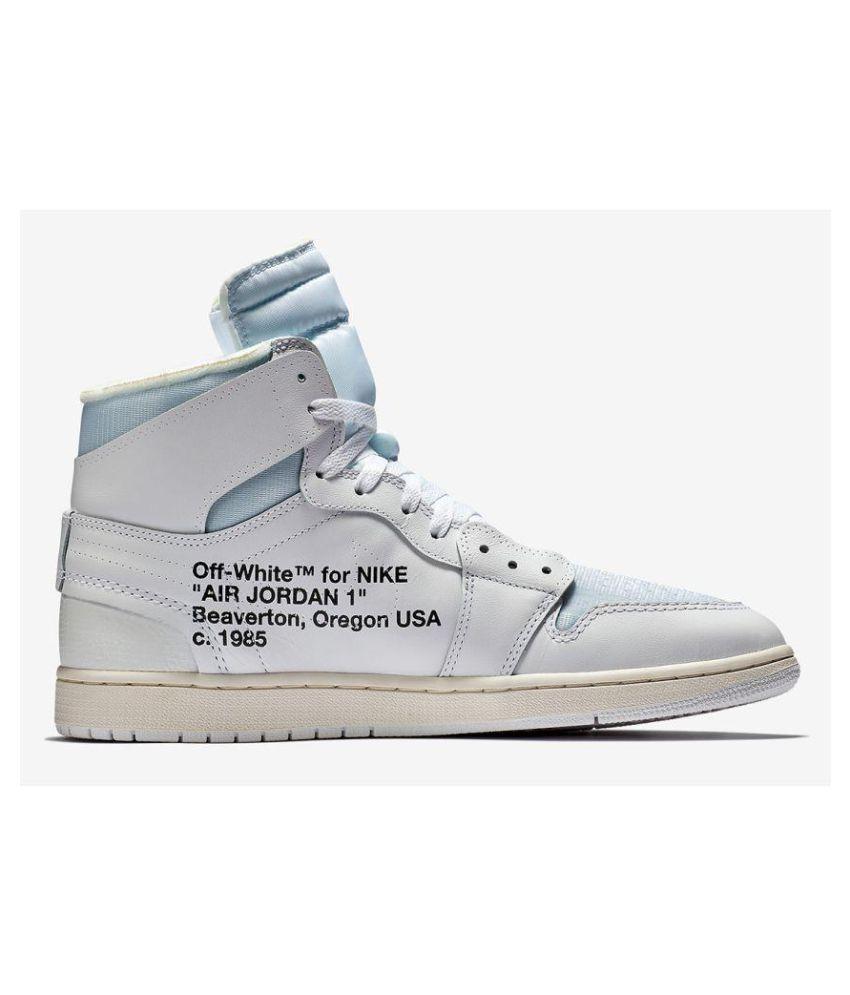 official photos d6e83 b3023 Nike AIR JORDAN 1 RETRO HIGH OG X White Basketball Shoes