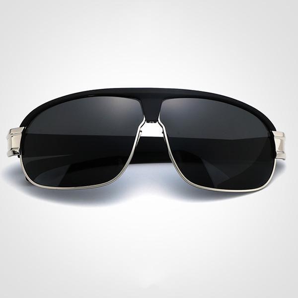 Fashion Men's Casual Anti-UV Polarized Sunglasses Outdoor Large Frame Sunscreen UV400 Eyeglasses