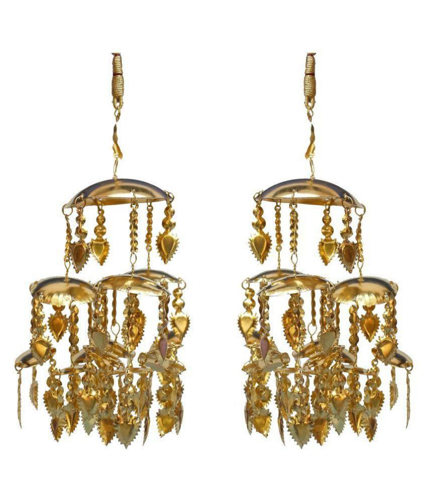 Lucky Jewellery Traditional Golden color gold plated kalira/kaleeray for women's and girls