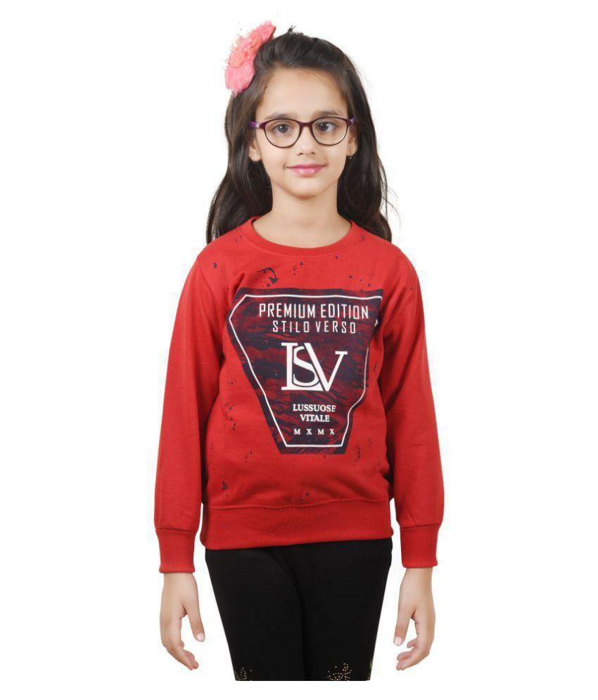 Ziva Fashion Girls Winter Sweatshirt