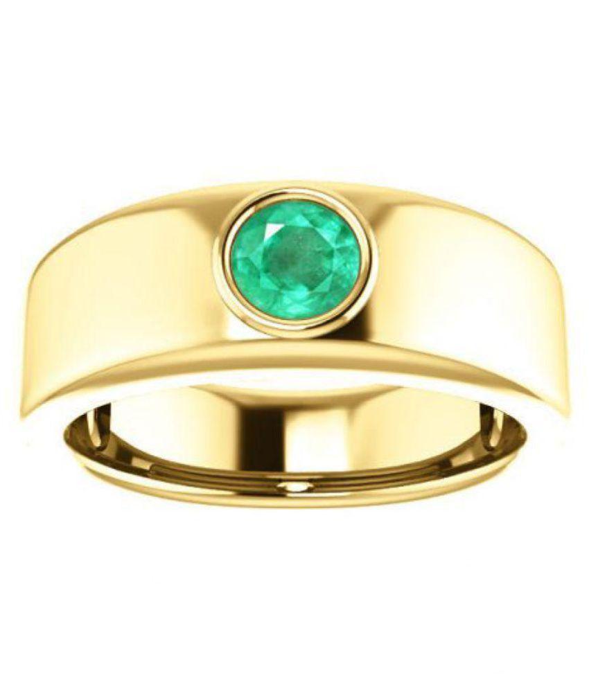 Jaipur Gemstone 9k Gold Emerald Ring