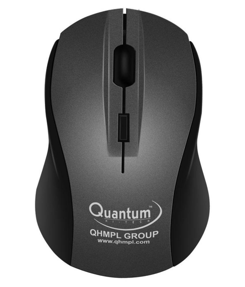 Quantum QHM262W Black Wireless Mouse