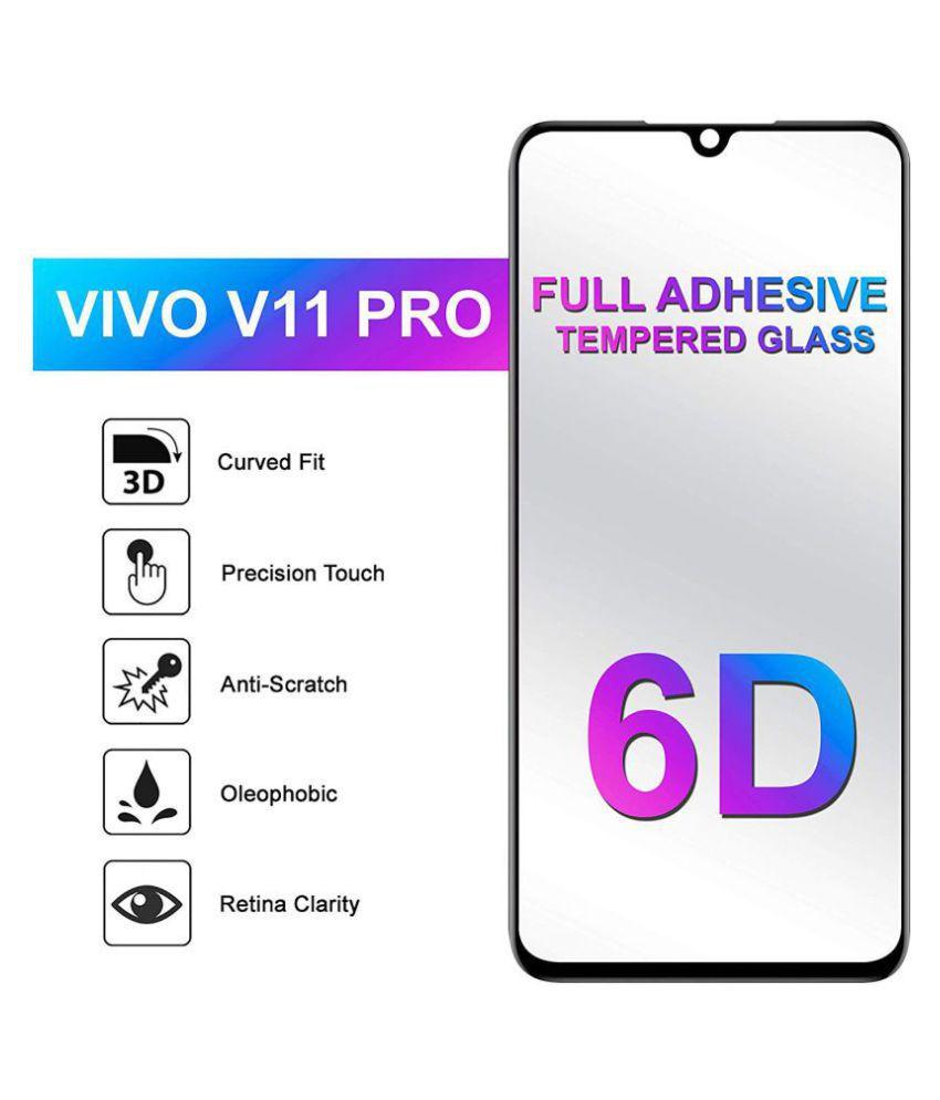 Vivo V11 Pro 6D Screen Guard By CXV CASES 6D Black Tempered Glass