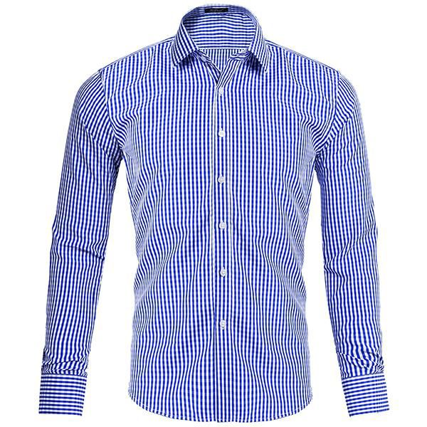 6d3c5272641 Men Casual Plaid Single Breasted Long Sleeve Shirts - Buy Men Casual Plaid  Single Breasted Long Sleeve Shirts Online at Low Price - Snapdeal.com
