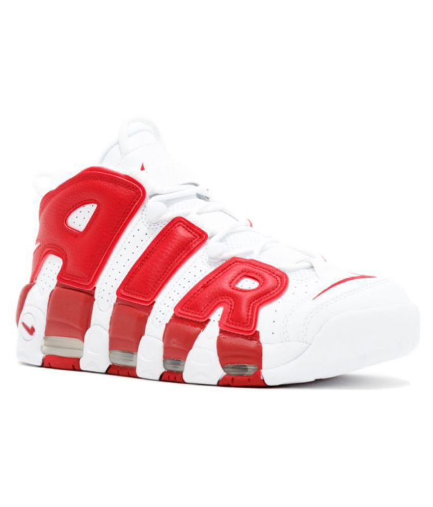 cd70224b31e71 Nike Air UpTempo Red Basketball Shoes - Buy Nike Air UpTempo Red Basketball Shoes  Online at Best Prices in India on Snapdeal