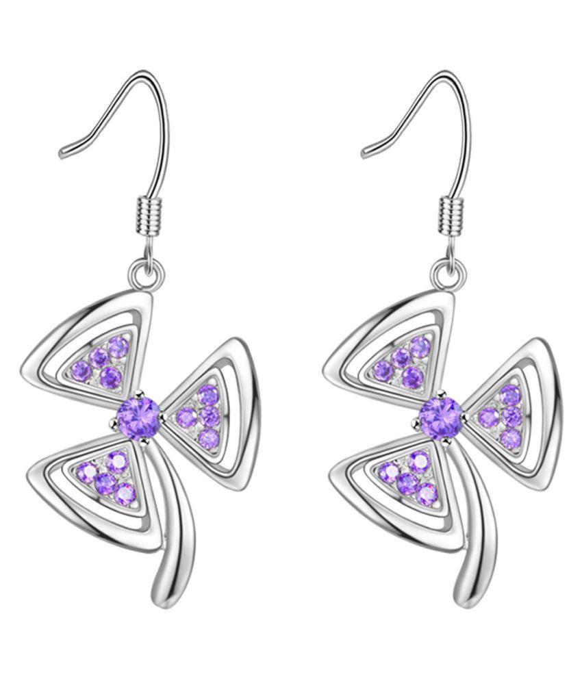 YOLO 1 Pair Silver Clover Stud Earrings For Women Statement Jewelry