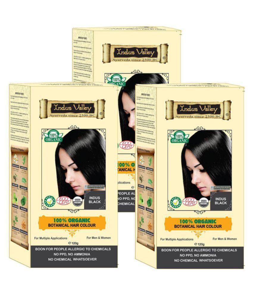 Indus Valley Hair Fibers Indus Black 120 g Pack of 3