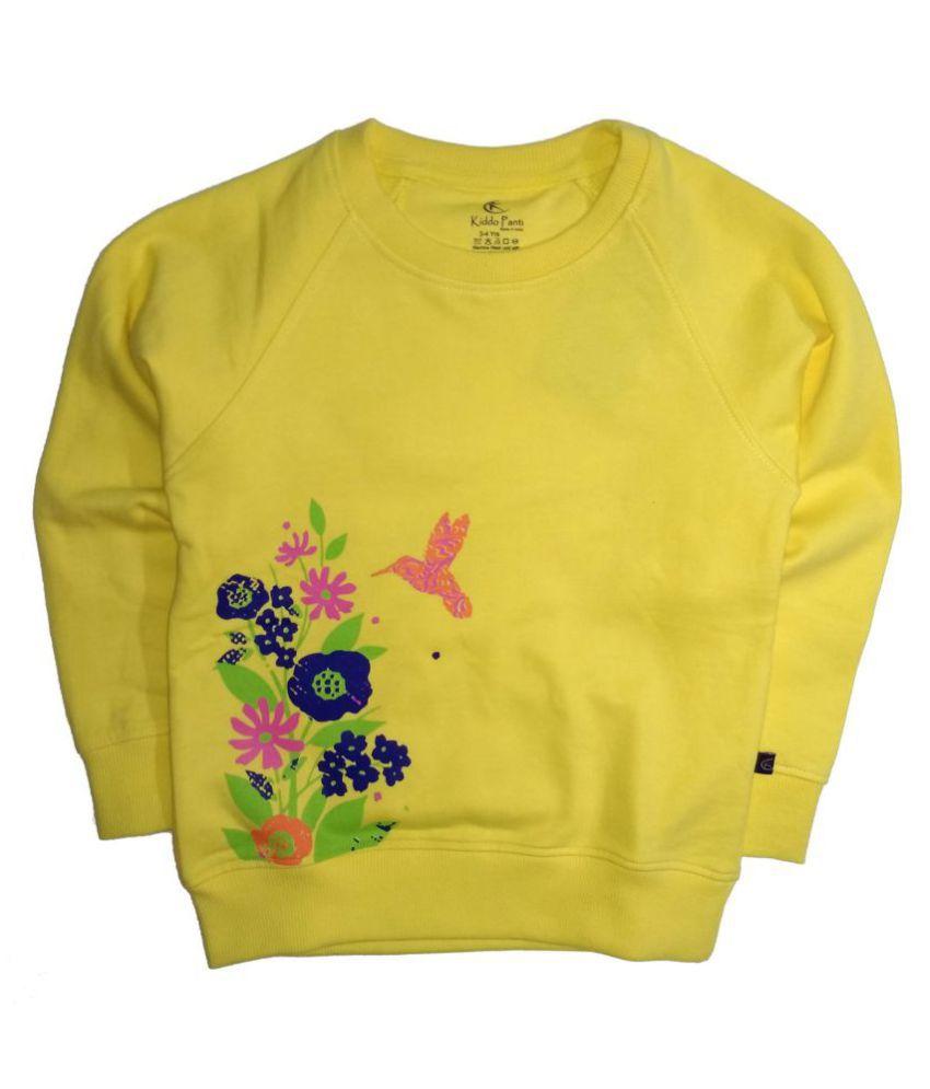 Raglan Sleeve Sweatshirt with Flower Print