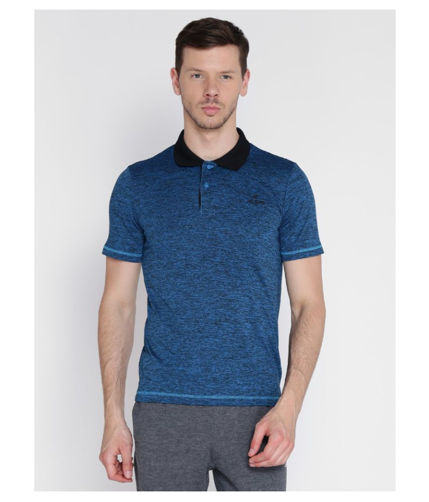 Alcis Blue Polyester Polo T-Shirt Single Pack