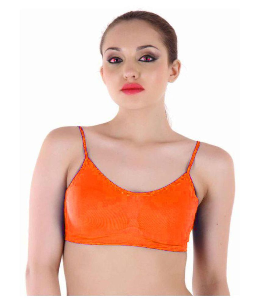 SHIVAAY INTERNATIONAL Cotton Cami bra - Orange