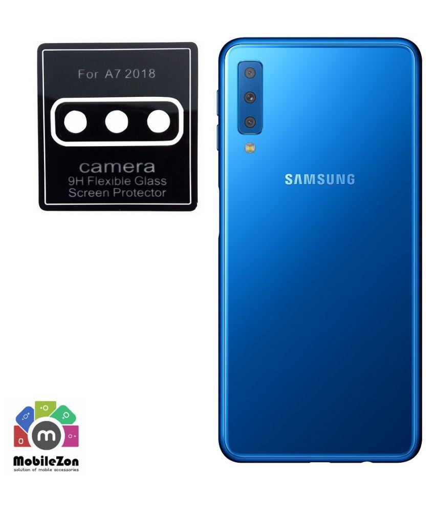 MobileZon Samsung Galaxy A7 2018 Back Camera Lens Protection Flexible Glass  Protector Cover …