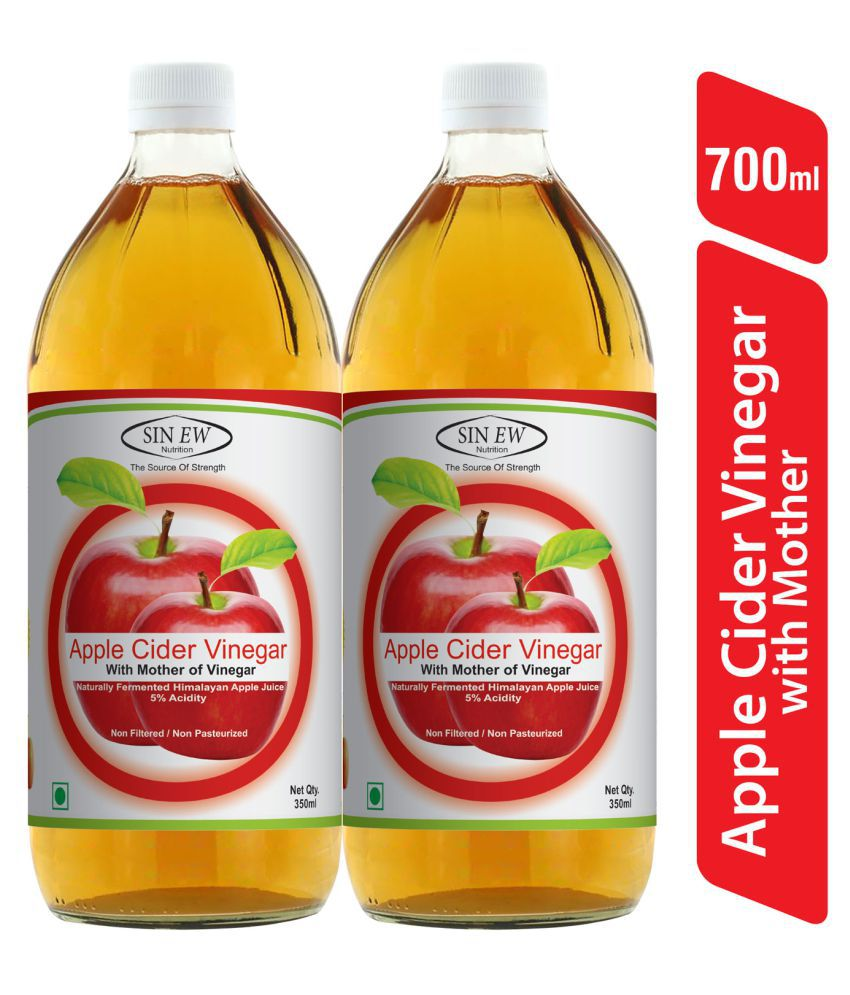 Sinew Nutrition Apple Cider Vinegar With Mother 350 ml Unflavoured Pack of 2