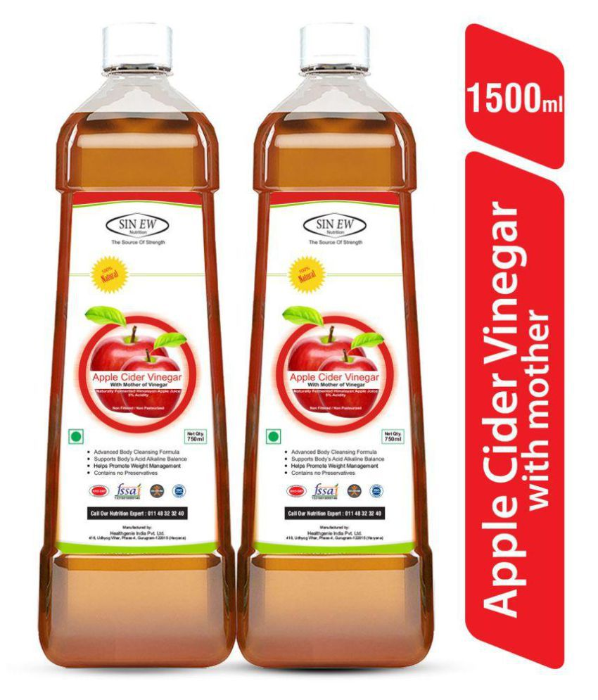 Sinew Nutrition Apple Cider Vinegar with Mother 750 ml Unflavoured Pack of 2