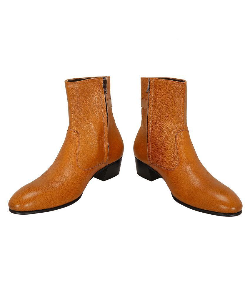 Shoe Bazar Tan Casual Boot