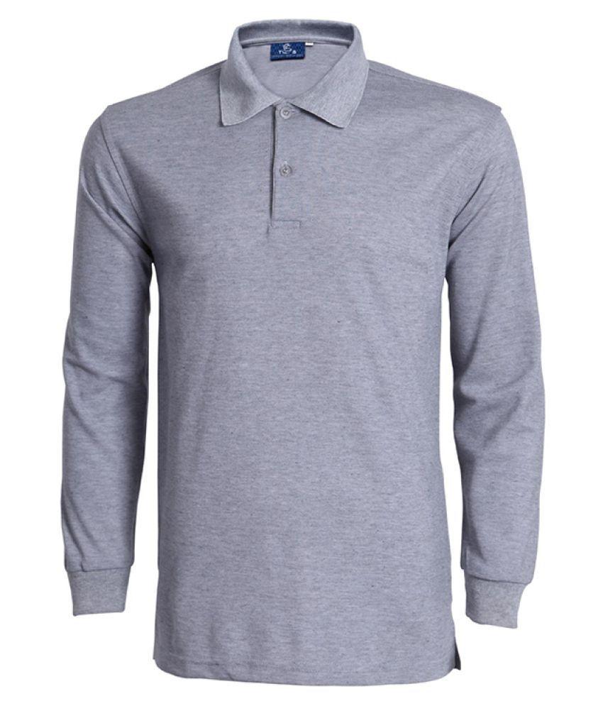 Haorun Grey Full Sleeve T-Shirt Pack of 1