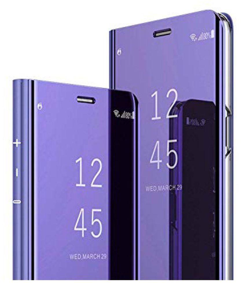 Vivo V11 Pro Flip Cover by Go Crazzy - Purple